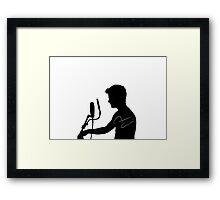 Darren Criss Profile Framed Print