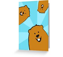 Searching for Shadows Groundhog Day Greeting Card Greeting Card