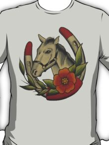 Traditional Horse and Horse Shoe T-Shirt