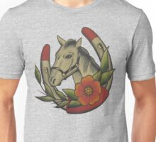 Traditional Horse and Horse Shoe Unisex T-Shirt