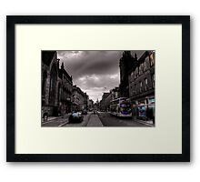 Edinburgh Old Town Street scene Framed Print