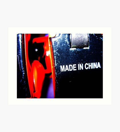 robot made in china Art Print
