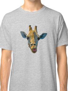 """""""I Don't Care"""" Giraffe Card Classic T-Shirt"""