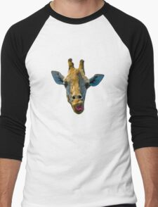 """I Don't Care"" Giraffe Card Men's Baseball ¾ T-Shirt"