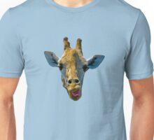 """I Don't Care"" Giraffe Card Unisex T-Shirt"