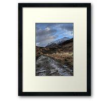 Glen Coe Track Framed Print