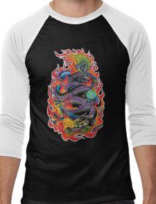 Fire Dragon Men's Baseball ¾ T-Shirt