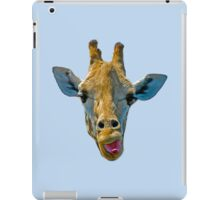 """I Don't Care"" Giraffe Card iPad Case/Skin"