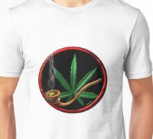Cannabis pipe design from valxart.com  Unisex T-Shirt