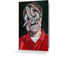 scribble head Greeting Card