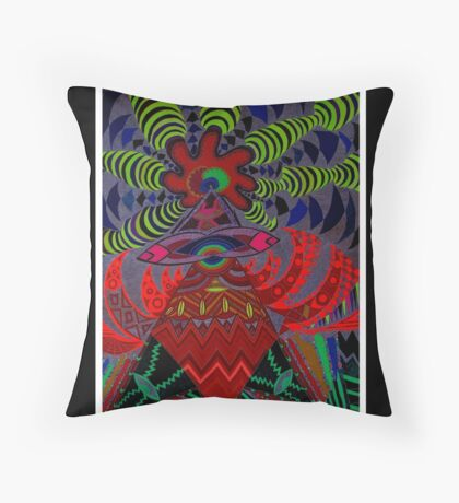 Soul Machine Black Ligth Throw Pillow