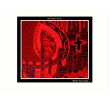 Divine Sensuality Black Ligth Art Print