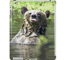 """""""I Don't Care"""" Bear  Card iPad Case/Skin"""