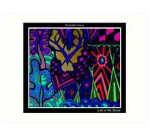 Call of The Divine Black Ligth Art Print