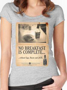 A Jack Daniel's Breakfast Women's Fitted Scoop T-Shirt
