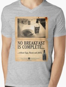 A Jack Daniel's Breakfast Mens V-Neck T-Shirt