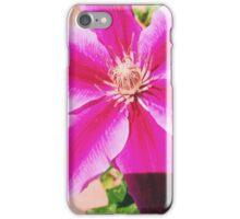 Bright Pink Flower Close Up iPhone Case/Skin