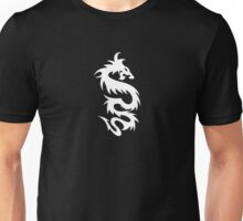 Chinese Mythology Dragon - Black White Unisex T-Shirt