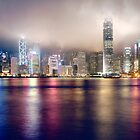 Hong Kong cloudy night by Hakai Matsu