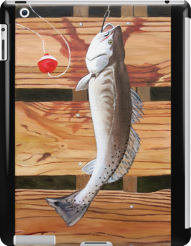"""96. """"Chris' Trout from Baffin Bay, Texas."""" by amyglasscockart"""