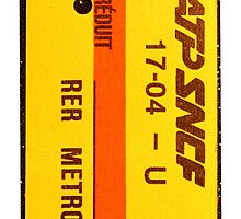 "French Subway Ticket 70's (Ticket metro français 70""s) by G3no"