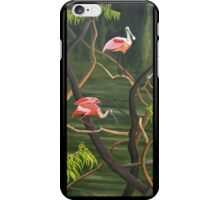 "99. ""Spoonbills Roosting in High Island, Texas."" iPhone Case/Skin"