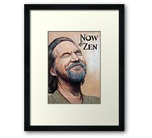 The Dude Now & Zen Framed Print