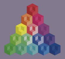 Cube Rainbow - Pyramid by FentonBailey