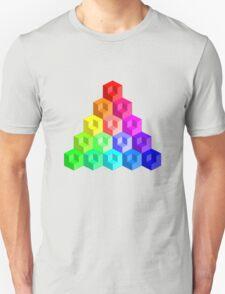 Cube Rainbow - Pyramid T-Shirt
