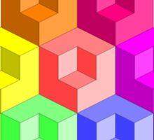 Cube Rainbow - Pyramid Sticker
