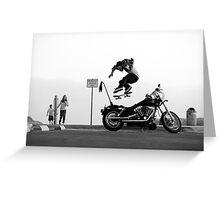 Motorcycle Kickflip Greeting Card