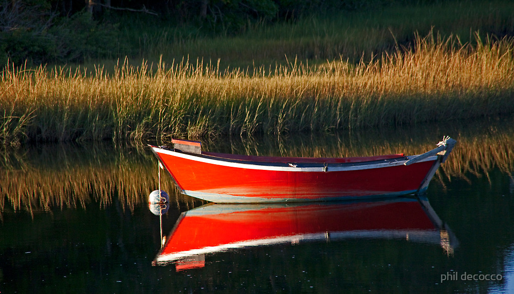 Red Boat Mirror by phil decocco