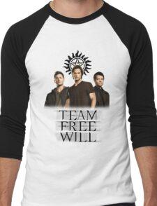 Supernatural: Team Free Will Men's Baseball ¾ T-Shirt