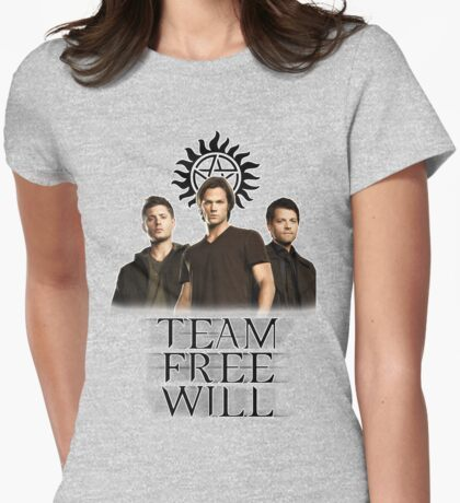 Supernatural: Team Free Will Womens Fitted T-Shirt