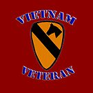 1st Cav Vietnam Veteran -  iPad Case by Buckwhite