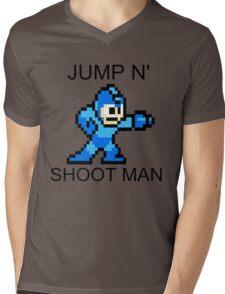 Jump N Shoot Man Mens V-Neck T-Shirt
