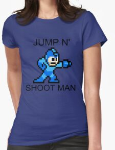Jump N Shoot Man Womens Fitted T-Shirt