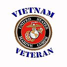 U.S. Marines - Vietnam Veteran  - iPad Case by Buckwhite