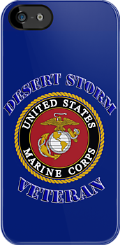 U.S. Marines - Desert Storm Veteran  - iPhone Case by Buckwhite