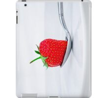 Strawberry on a plate iPad Case/Skin