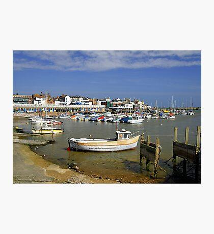 Bridlington Harbour Scene Photographic Print