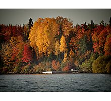 Autumn Arrives to Buffalo Bay Photographic Print