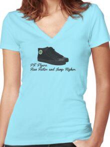 P.F. Flyers.  Sandlot Kids! Women's Fitted V-Neck T-Shirt