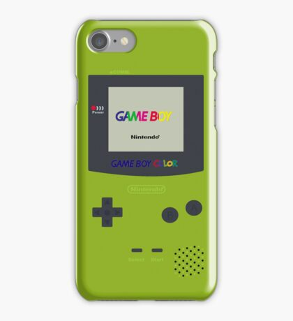 Gameboy Color (Green) iPhone Case/Skin