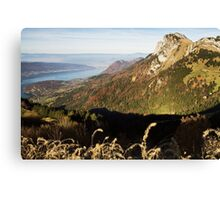High above Annecy lake Canvas Print