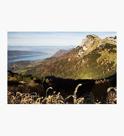 High above Annecy lake Photographic Print