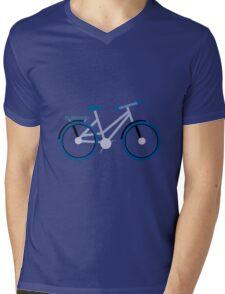 Blue Bike Mens V-Neck T-Shirt