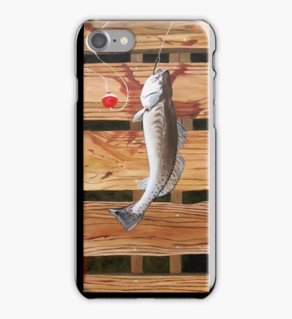 """96. """"Chris' Trout from Baffin Bay, Texas."""" iPhone Case/Skin"""