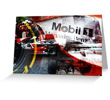 Formula One Manchester Greeting Card