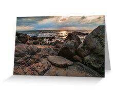 Rugged Beach at Nightfall Greeting Card